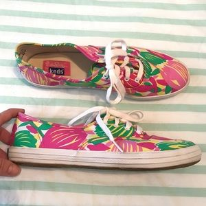 Ked's Lily Pulitzer Bright Floral Sneakers Size 9